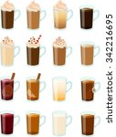vector illustration of various... | Shutterstock .eps vector #342216695