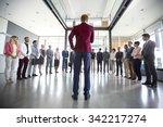 business leader hold meeting... | Shutterstock . vector #342217274