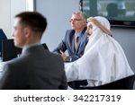 senior director hold meeting in ... | Shutterstock . vector #342217319