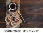delicious chocolate cookies and ...   Shutterstock . vector #342217949