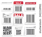 barcode label and sale vector... | Shutterstock .eps vector #342218981