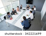 group of business people having ... | Shutterstock . vector #342221699