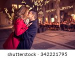 young affectionate couple... | Shutterstock . vector #342221795
