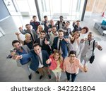 portrait of thumb up smiling... | Shutterstock . vector #342221804