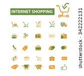 internet shopping  retail  cart ... | Shutterstock .eps vector #342222131