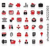 36 premium business logo icons   Shutterstock .eps vector #34222303