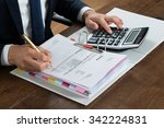 high angle view of businessman... | Shutterstock . vector #342224831