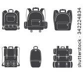 backpack icon set | Shutterstock .eps vector #342224834