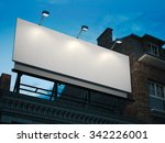 blank billboard standing on... | Shutterstock . vector #342226001
