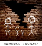 couple with children stick... | Shutterstock . vector #342226697