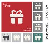 gift box icon   vector ... | Shutterstock .eps vector #342228425