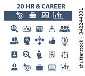 hr  career  job  icons  signs... | Shutterstock .eps vector #342244331