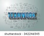 teamwork business success with...   Shutterstock .eps vector #342246545