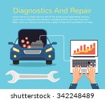 auto mechanic service. vector...   Shutterstock .eps vector #342248489