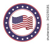 usa emblematic seal design ... | Shutterstock .eps vector #342250181