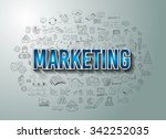 marketing success with doodle...   Shutterstock .eps vector #342252035