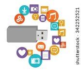 pen drive design  vector... | Shutterstock .eps vector #342252521