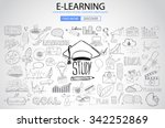 educational and learning... | Shutterstock .eps vector #342252869