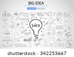 big idea concept with doodle... | Shutterstock .eps vector #342253667