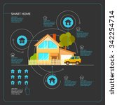 smart home. infographics.... | Shutterstock .eps vector #342254714