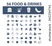 food  drinks  grocery  icons ... | Shutterstock .eps vector #342254741