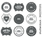 vintage emblems  labels. best... | Shutterstock . vector #342255101