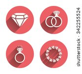 rings icons. jewelry with shine ... | Shutterstock . vector #342255524