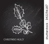hand drawn decorative christmas ... | Shutterstock .eps vector #342256187