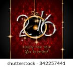 2016 happy new year and merry... | Shutterstock .eps vector #342257441