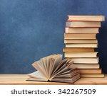 background from books. books... | Shutterstock . vector #342267509