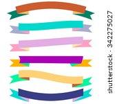 varicolored vector ribbon... | Shutterstock .eps vector #342275027