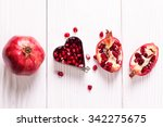 some red juicy pomegranate ... | Shutterstock . vector #342275675