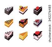 cake set isometric flat design... | Shutterstock .eps vector #342276485