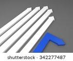 arrow race   blue arrow takes a ...   Shutterstock . vector #342277487
