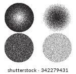 black and white circles vector... | Shutterstock .eps vector #342279431