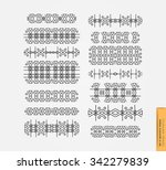 set of linear thin line art... | Shutterstock .eps vector #342279839