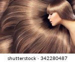 beautiful hair. beauty woman... | Shutterstock . vector #342280487