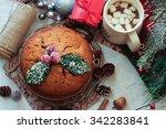 Christmas Cake With Holiday...
