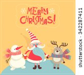 vector illustration with santa...   Shutterstock .eps vector #342287411