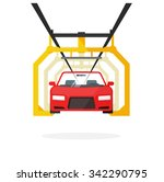 car production line vector... | Shutterstock .eps vector #342290795