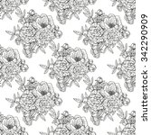 elegant seamless pattern with... | Shutterstock .eps vector #342290909
