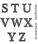 alphabet letters  isolated on... | Shutterstock . vector #342301544