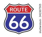 route 66 sign . vector...   Shutterstock .eps vector #342307505