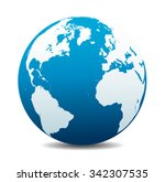 europe  north  south america ... | Shutterstock .eps vector #342307535