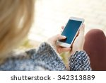 connected anywhere at any time. ... | Shutterstock . vector #342313889