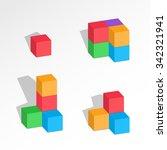 Set Of 3d Cube Combinations....