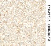 vector seamless beige doodles... | Shutterstock .eps vector #342324671