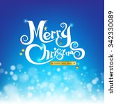 merry christmas on abstract... | Shutterstock .eps vector #342330089