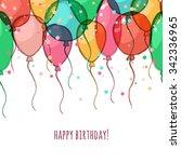 vector gift voucher with... | Shutterstock .eps vector #342336965