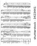 sheet music   Shutterstock . vector #3423441